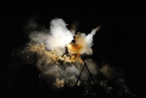 Smoke rising from burn pit in Iraq